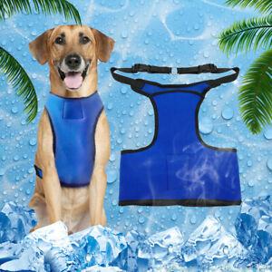 Pet Cooling Vest Jacket Dog Ice-cooling Harness Coats for Summer Ice Packs Boxer