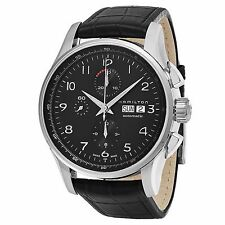 Hamilton Men's Jazzmaster Chronograph Leather Strap Automatic Watch H32716839