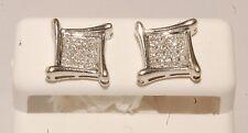 white Gold and diamond men /kids earrings stud earrings screw back studs