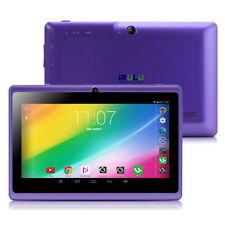 "iRULU 7"" A33 8GB Purple Quad Core Android 4.4 Dual Camera HD Screen Tablet PC"