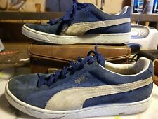 Puma Suede Classic Navy Men's Size 10.5M Lace Up Casual Shoes, Athletic