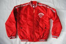 ROLLING STONES EMBROIDERED LOGO 2002/3 RED TOUR VARSITY JACKET NEW OFFICIAL