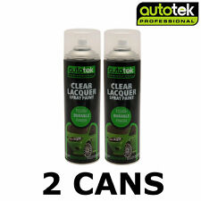 2x AUTOTEK Clear Lacquer 500ML Spray Paint High Gloss High Coverage