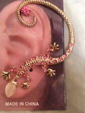 USA Gekko Lizard Earring Ear Cuff Wrap Stud Dragon PINK Bohemian Brides Maid Fun