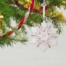2017 Snowflake Hallmark Porcelain Ornament Star Rhinestone  Silver  Snow  Star