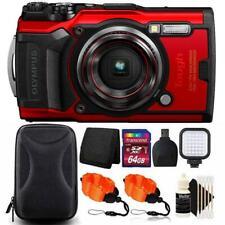 Olympus Tough TG-6 Digital Camera Red + 64GB Card + Accessory Kit