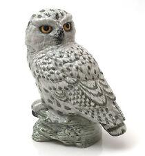 Mack Bone China England Bird Figurine, Snowy Owl by R & J.Mack