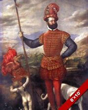 16TH CENTURY ITALIAN SOLDIER IN UNIFORM PAINTING HISTORY WAR ART CANVAS PRINT