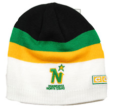 MINNESOTA NORTH STARS CCM NHL KV89Z RETRO TEAM LOGO KNIT HOCKEY HAT/BEANIE
