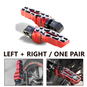 2PCS Motorbike Motorcycle LEFT & RIGHT Anti-Skid Rear Widened Foot Rest Pedal