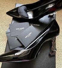 BRAND NEW YSL SAINT LAURENT BLACK MONOGRAM OPIUM PUMPS 38.5