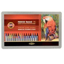 Koh-I-NOOR Progresso Aquarell Crayones Lápices soluble en agua-Lata De 36 Colores