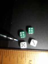 2 PAIR OF DICE  FOR YOUR DOLL HOUSE MINIATURE GAMES