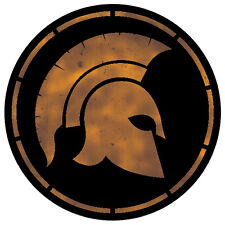 2 x Spartan Warrior Helmet - cool laptop, car, van decal sticker
