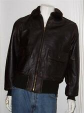 MEN'S USA COOPER AUTHENTIC USN BOMBER FLIGHT JACKET SZ M  BROWN LEATHER