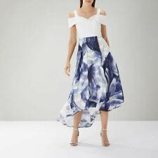 Coast dress Lira Printed Jacquard Midi Hi Low Cut hem Occasion wedding 14-16 New