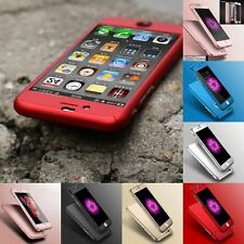 SMART HYBRID SHOCKPROOF PHONE CASE COVER AND TEMPERED GLASS FOR iPHONE 7 6 5S