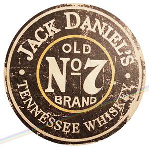 Circle Wooden Signs - JACK DANIELS Mancave Vintage Retro Wood Bar Pub Lager Sign