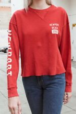 1ecb11764c Brandy Melville red long sleeve Laila newport beach 1984 thermal top Shirt