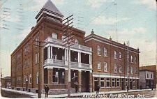 Canada Fort William Ontario - Avenue Hotel 1909 used postcard