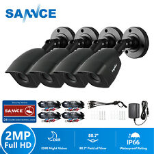 SANNCE 4x1080P CCTV Bullet Camera Home Outdoor IR 3000TVL for Security System