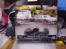 Hot Wheels Team Transport Porsche 356A Outlaw & Volkswagen Transporter T1 Pickup