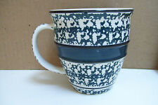 Tienshan Stoneware Country Crock Sponge Bands Green Oven to Table 20 oz Mug Cup