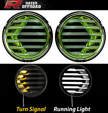 07-17 Jeep JK Wrangler GREEN+Clear lens+Turn Signal LED Light+LED Running Light