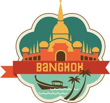 "Bangkok Thailand World City Travel Car Bumper Sticker Decal 5"" x 4"""