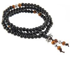 Buddhistische Gebetskette Sandelholz Mala Kette Rosary Holz Armband 5 mm 56 cm