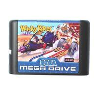 Wacky Races 16 bit MD Game Card For Sega Mega Drive For Genesis