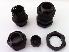 20pcs PG11 Waterproof Connector Gland Dia. 5-10mm Cable Black #M1842 QL
