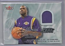 2000-01 Fleer Basketball Shaquille O'Neal Feel The Game Warm Up Jacket Card