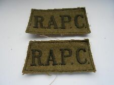 pair of slip on shoulder titles   R.A.P.C.  royal army pay corps