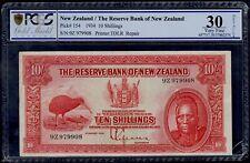 NEW ZEALAND  10 SHILLINGS 1934 PICK # 154 PCGS 30 VERY FINE.
