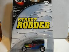 Hot Wheels 100% Preferred Street Rodder Blue Midnight Otto w/Real Riders