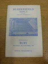 06/11/1965 Huddersfield Town v Bury  (marked, worn on front). Thanks for viewing
