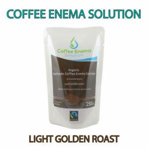COFFEE ENEMA SOLUTION LIGHT GOLDEN AIR ROASTED - 28 Pcs GERSON ORGANIC FAIRTRADE