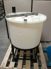Chem Tainer Tc3024cb 75 Gallon Polypropylene Cone Bottom Tank With Steel Stand