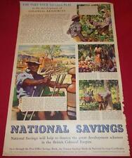 1951 Original RARE British Colonial Empire KENYA East Africa POSTER Uganda