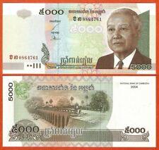 P55c   Cambodia/Kambodscha  5000 Riels   2004  UNC