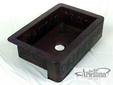 Ariellina Farmhouse 14 Gauge Copper Kitchen Sink Lifetime Warranty New AC1812