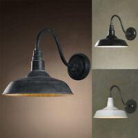 Outdoor Barn Gooseneck Arm Wall Mount Lamp Industrial Vintage Wall Light