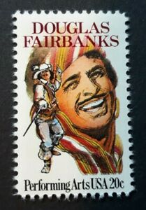 US Scott #2088,1984 20c, Douglas Fairbanks, Performing Arts, Single stamp MNH/OG