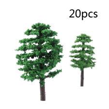 20x Mini Model Trees Train Railroad Diorama Wargame Park Scenery HO Scale Hot