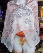 100% Rayon Ram Light weight Small Scarf/Shawl Indian Handmade Om Printed