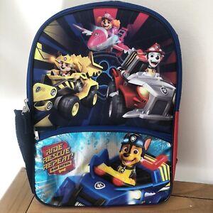 "Nickelodeon Paw Patrol Kids 16"" School Backpack RIDE RESCUE REPEAT Colorful"
