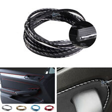 5M Carbon Fiber Interior Door Panel Armrest Plug-in Edge Dashboard Decor Strip
