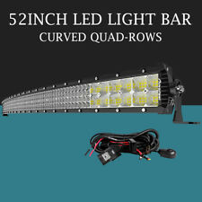 Autofeel 52inch 6272W Curved Led Light Bar Spot Flood Quad Row Driving 4WD Lamp