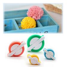4 Size Pom Pom Maker Set Fluff Ball Weaver Needle Knitting Craft Bobble DIY